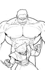 Imprimer le coloriage : Hulk, numéro 17578