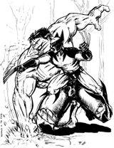 Imprimer le coloriage : Hulk, numéro 17580
