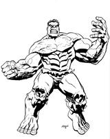 Imprimer le coloriage : Hulk, numéro 2609