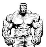 Imprimer le coloriage : Hulk, numéro 544509