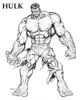 Imprimer le coloriage : Hulk, numéro 605058