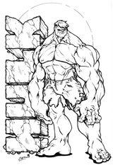 Imprimer le coloriage : Hulk, numéro 755311