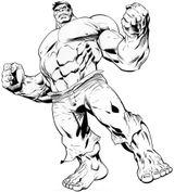 Imprimer le coloriage : Hulk, numéro 755313