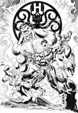Imprimer le coloriage : Hulk, numéro 80eb642f