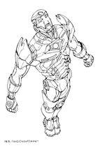 Imprimer le coloriage : Iron Man, numéro 1006