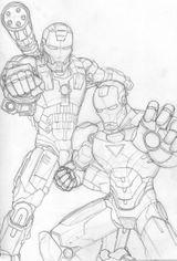 Imprimer le coloriage : Iron Man, numéro 113388