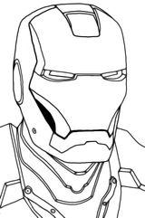Imprimer le coloriage : Iron Man, numéro 16483