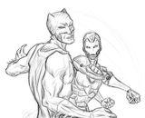 Imprimer le coloriage : Iron Man, numéro 16502