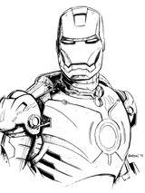 Imprimer le coloriage : Iron Man, numéro 18296