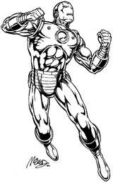 Imprimer le coloriage : Iron Man, numéro 24668