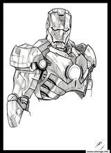 Imprimer le coloriage : Iron Man, numéro 3caca21b