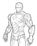 Imprimer le coloriage : Iron Man, numéro 400913