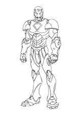 Imprimer le coloriage : Iron Man, numéro 4591