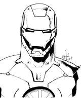 Imprimer le coloriage : Iron Man, numéro 4593