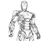 Imprimer le coloriage : Iron Man, numéro 501175