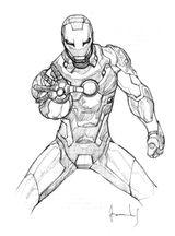 Imprimer le coloriage : Iron Man, numéro 576860