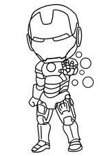 Imprimer le coloriage : Iron Man, numéro 89b85cbc