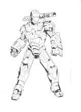 Imprimer le coloriage : Iron Man, numéro 9189f6da