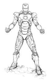 Imprimer le coloriage : Iron Man, numéro d2fdc6fc
