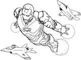 Imprimer le coloriage : Iron Man, numéro d7fe446d