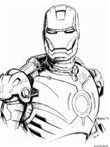 Imprimer le coloriage : Iron Man, numéro f38ed1fa