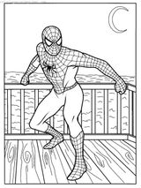 Imprimer le coloriage : Spiderman, numéro 1052