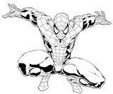 Imprimer le coloriage : Spiderman, numéro 4563
