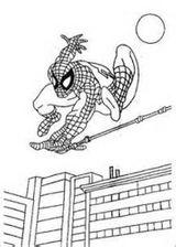 Imprimer le coloriage : Spiderman, numéro 623924