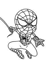 Imprimer le coloriage : Spiderman, numéro e12f213e
