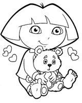 Imprimer le coloriage : Dora, numéro 17063