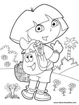 Imprimer le coloriage : Dora, numéro 20153