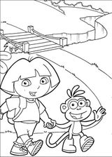 Imprimer le coloriage : Dora, numéro 233607