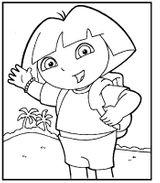 Imprimer le coloriage : Dora, numéro 27868