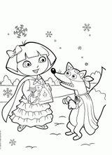 Imprimer le coloriage : Dora, numéro 27cfa6a9