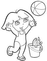 Imprimer le coloriage : Dora, numéro 2af8df6a