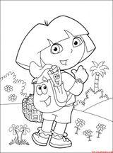 Imprimer le coloriage : Dora, numéro 3473