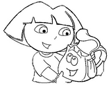 Imprimer le coloriage : Dora, numéro 3474