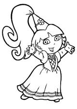 Imprimer le coloriage : Dora, numéro 3484