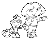 Imprimer le coloriage : Dora, numéro 3491