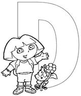Imprimer le coloriage : Dora, numéro 3495