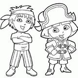 Imprimer le coloriage : Dora, numéro 3496
