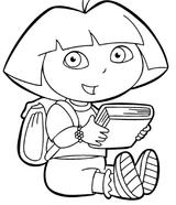 Imprimer le coloriage : Dora, numéro 3498