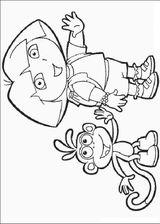 Imprimer le coloriage : Dora, numéro 463718