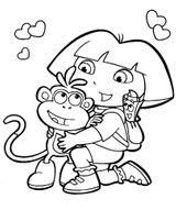 Imprimer le coloriage : Dora, numéro 4c0a44ab