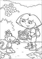 Imprimer le coloriage : Dora, numéro 5322