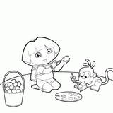 Imprimer le coloriage : Dora, numéro 5323