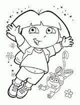 Imprimer le coloriage : Dora, numéro 541cbbe8