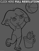 Imprimer le coloriage : Dora, numéro 606e9de8