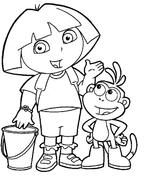 Imprimer le coloriage : Dora, numéro 624532