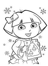 Imprimer le coloriage : Dora, numéro 6db90dac